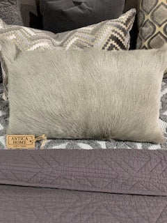 Petra Goat Fur Cushion 50x30cm Grey