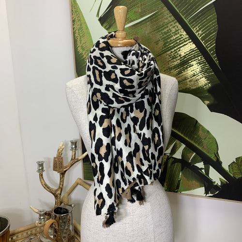 Animal Print Scarf - Light
