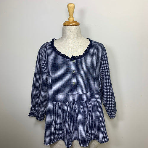Gingham Top - Navy