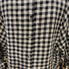 Austin linen top /small check