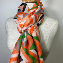Striped Scarf - Red