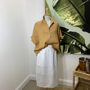 Tribu Collar Shirt - Tan (One Size)