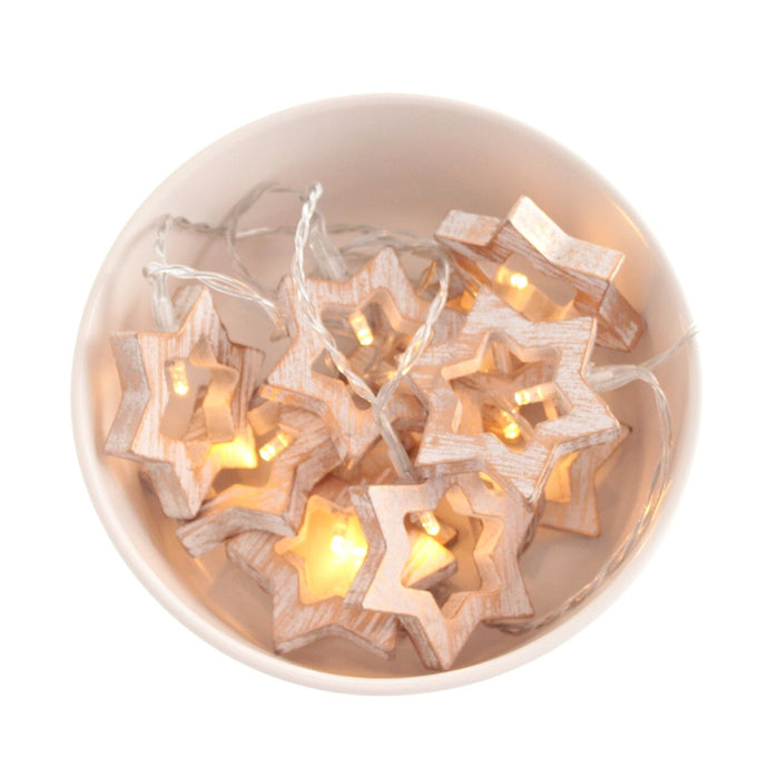 Wooden Star - Battery Operated
