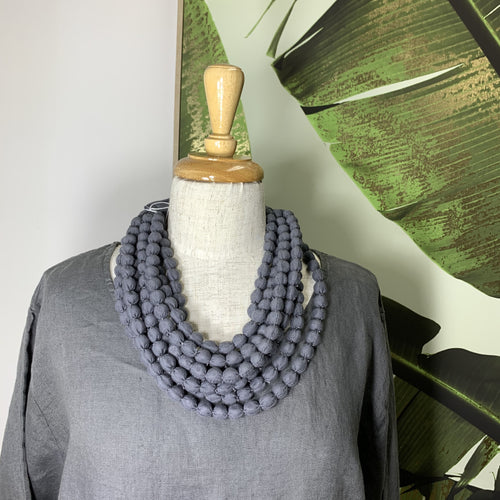 Isabis Necklace - Charcoal