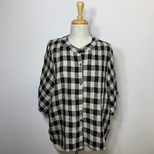 Austin Large Check Top