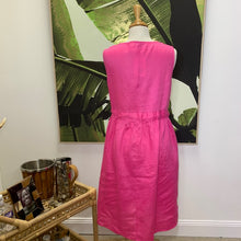 Miami linen dress/hot pink
