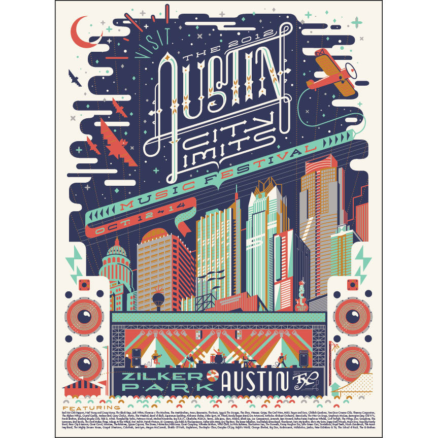 2012 Numbered Edition ACL Festival Poster