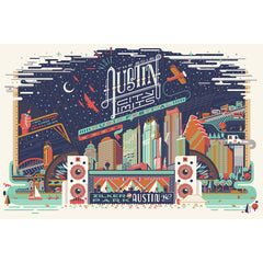 2012 Signed & Numbered ACL Festival Poster