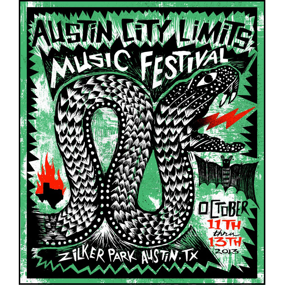 2013 Weekend Two ACL Festival Poster
