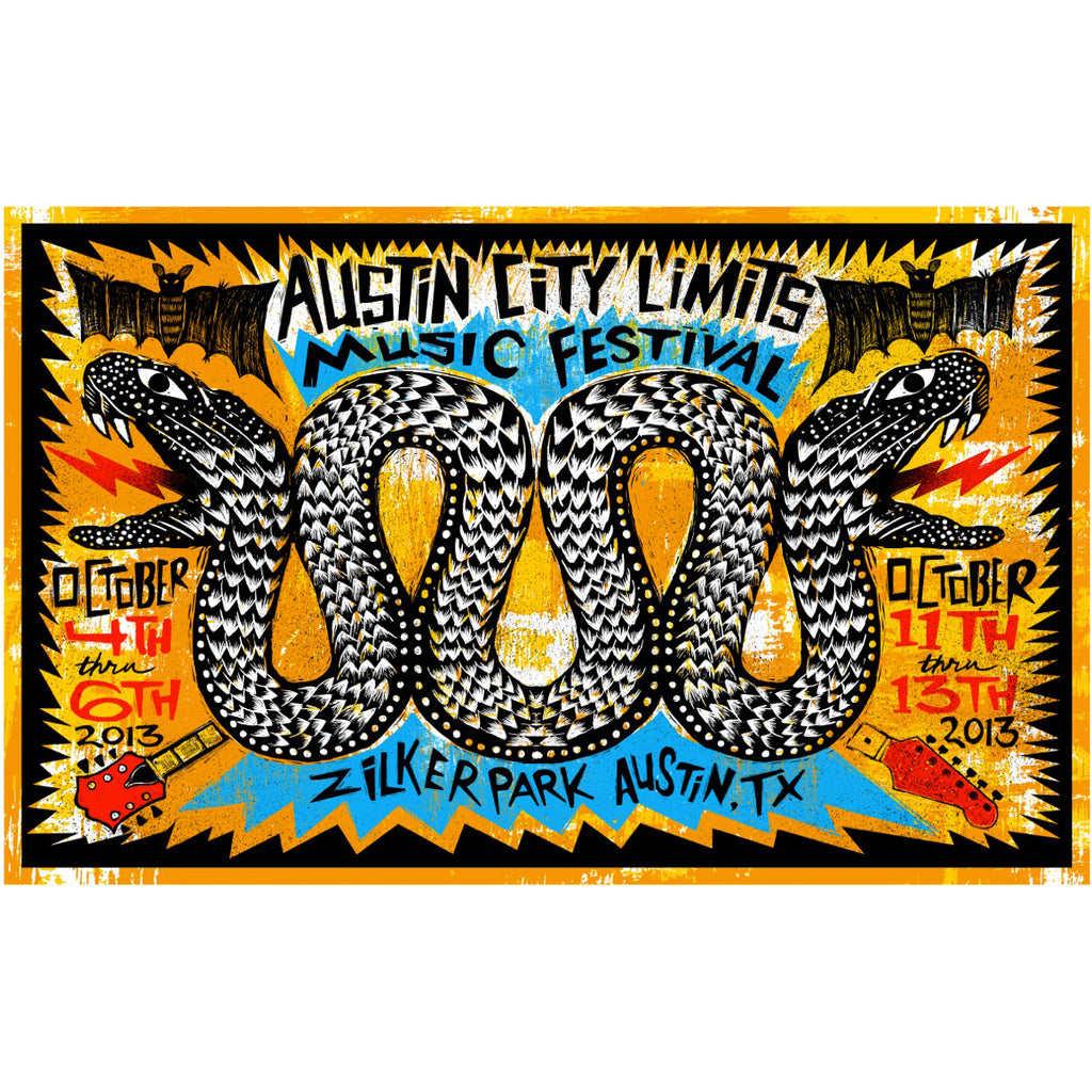2013 Signed & Numbered ACL Festival Artist Poster
