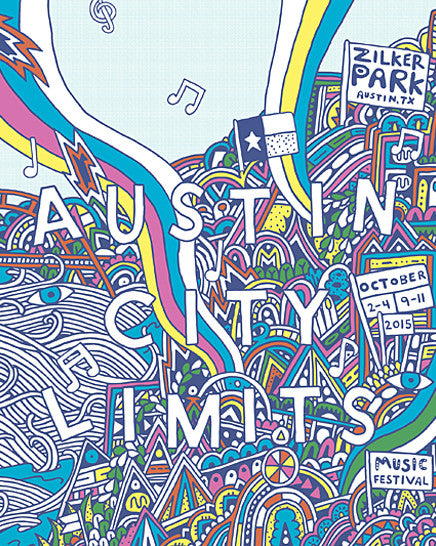 2015 Numbered ACL Festival Artist Poster