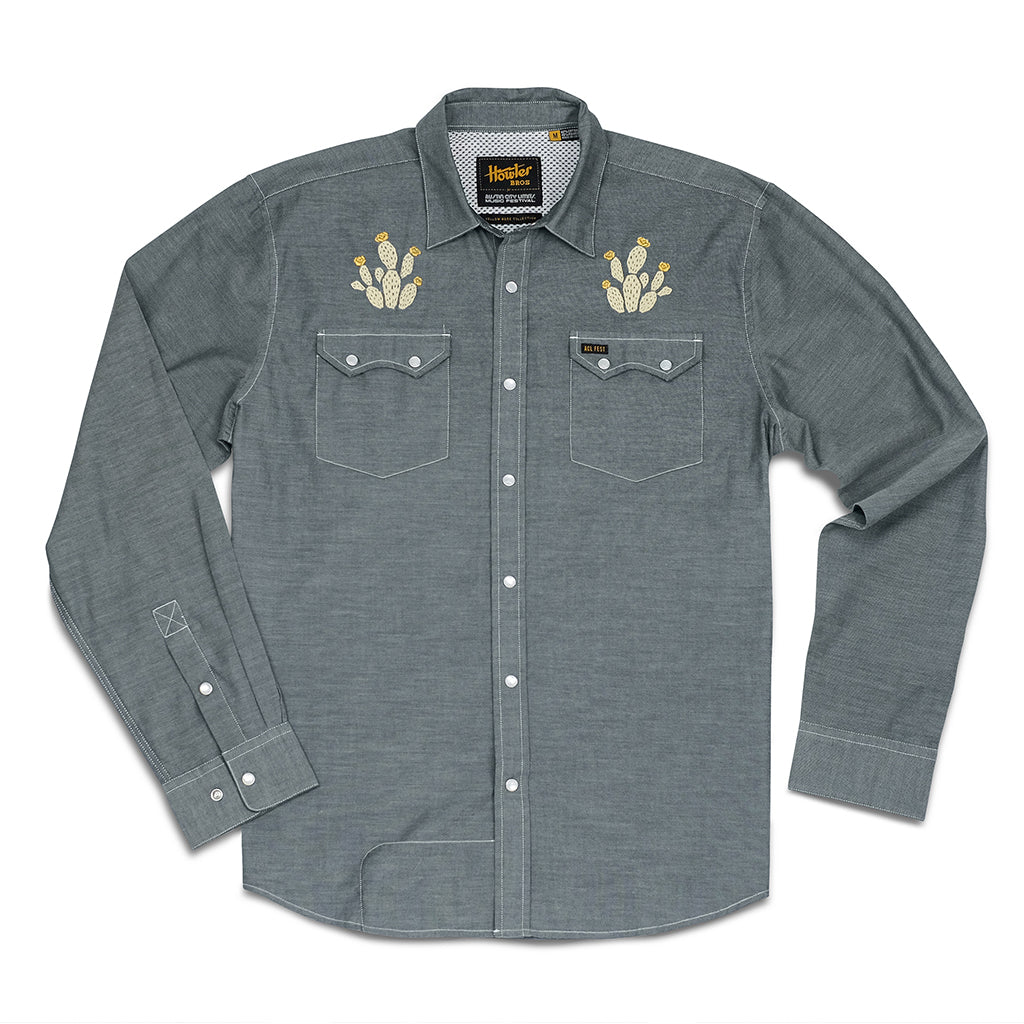Howler Bros Crosscut Snapshirt - Prickly Pear & Yellow Rose