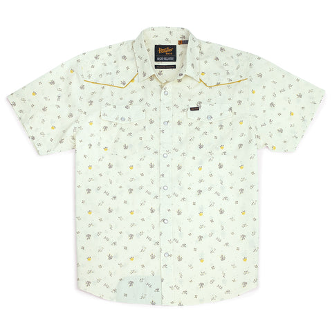 H-Bar Snapshirt - Prickly Pear & Yellow Rose