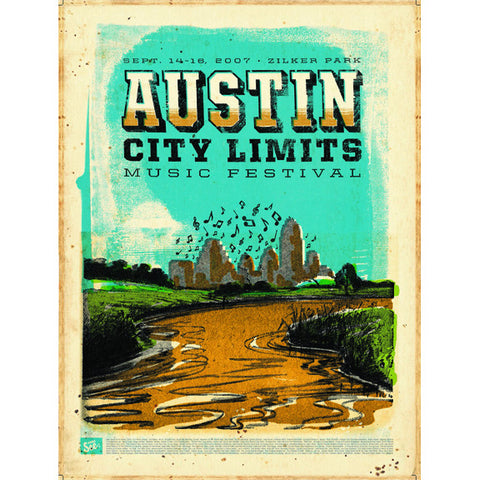 2007 ACL Festival Commemorative Poster