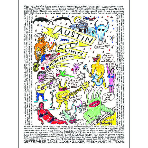 2008 ACL Festival Commemorative Poster
