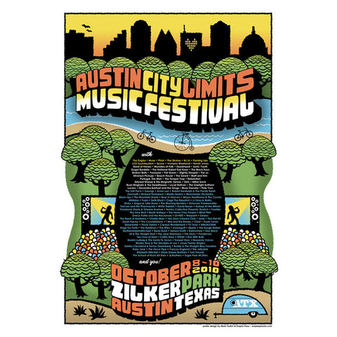 2010 ACL Festival Commemorative Poster