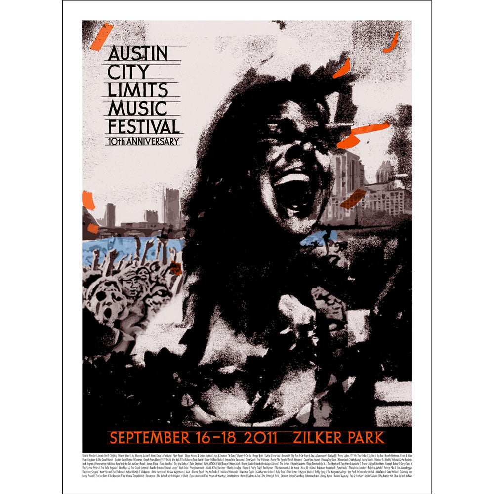 2011 ACL Festival Poster - Felice House Signed & Numbered Silkscreen