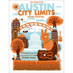 2011 Commemorative Poster - Tad Carpenter Silkscreen