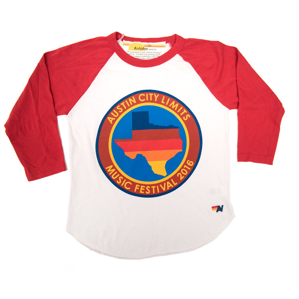 2016 Aviator Nation Kids Baseball Tee