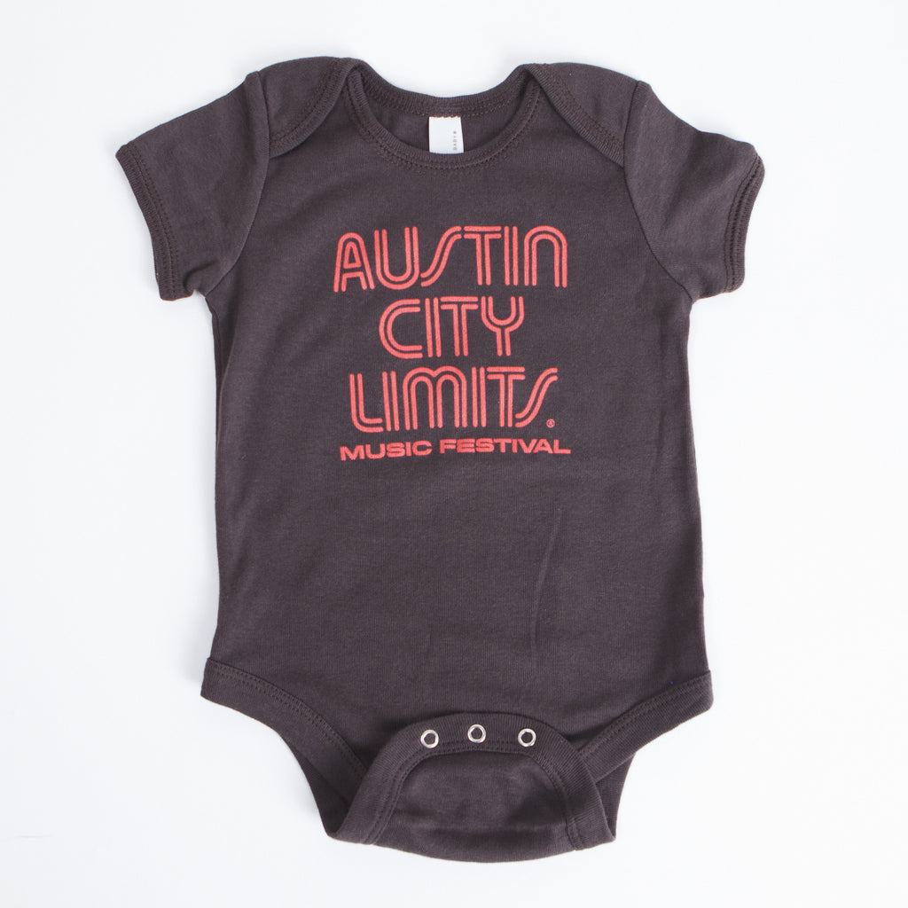 Logo Onesie - Charcoal/Pink