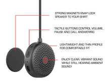 ZULU AUDIO WEARABLE BLUETOOTH® SPEAKERS (BLACK)