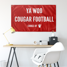 Load image into Gallery viewer, YA WOO COUGAR FOOTBALL FLAG
