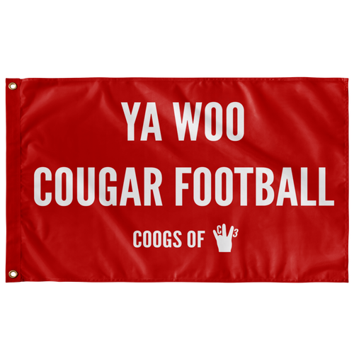 YA WOO COUGAR FOOTBALL FLAG