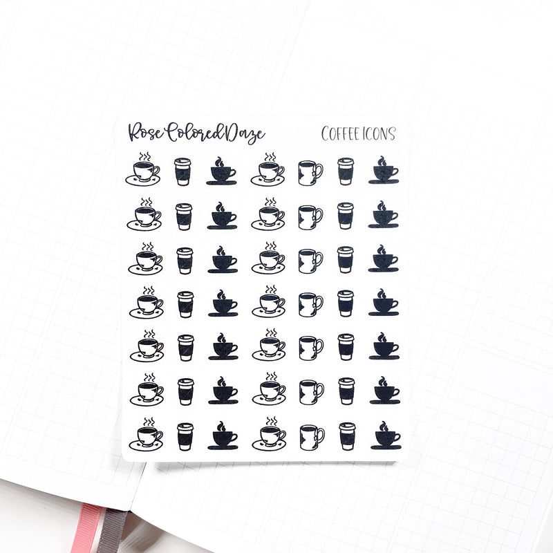 FOILED- Coffee  Icons
