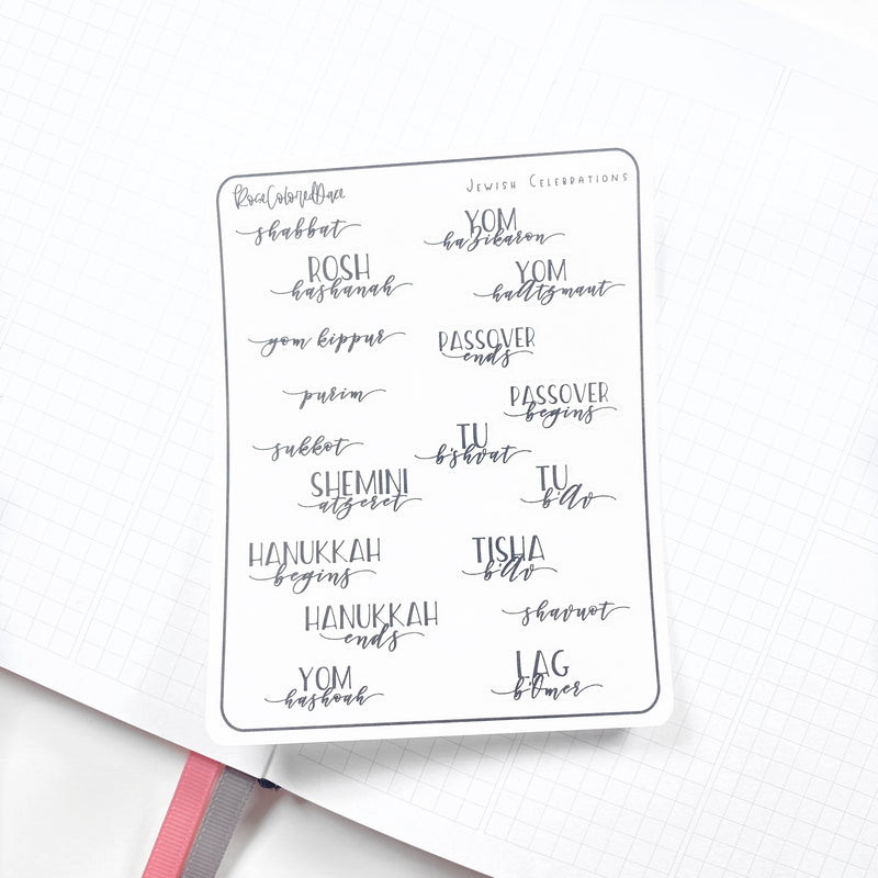 FOILED- Holiday Planner Stickers