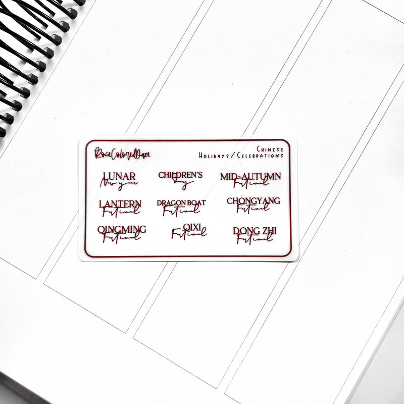 MINI Holiday Planner Stickers