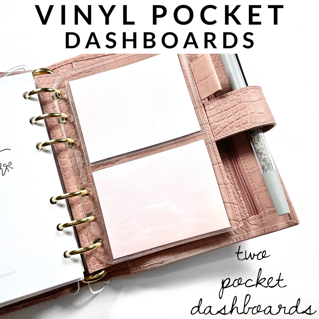 Vinyl Top Loading Dashboards- CLEAR | TWO POCKET