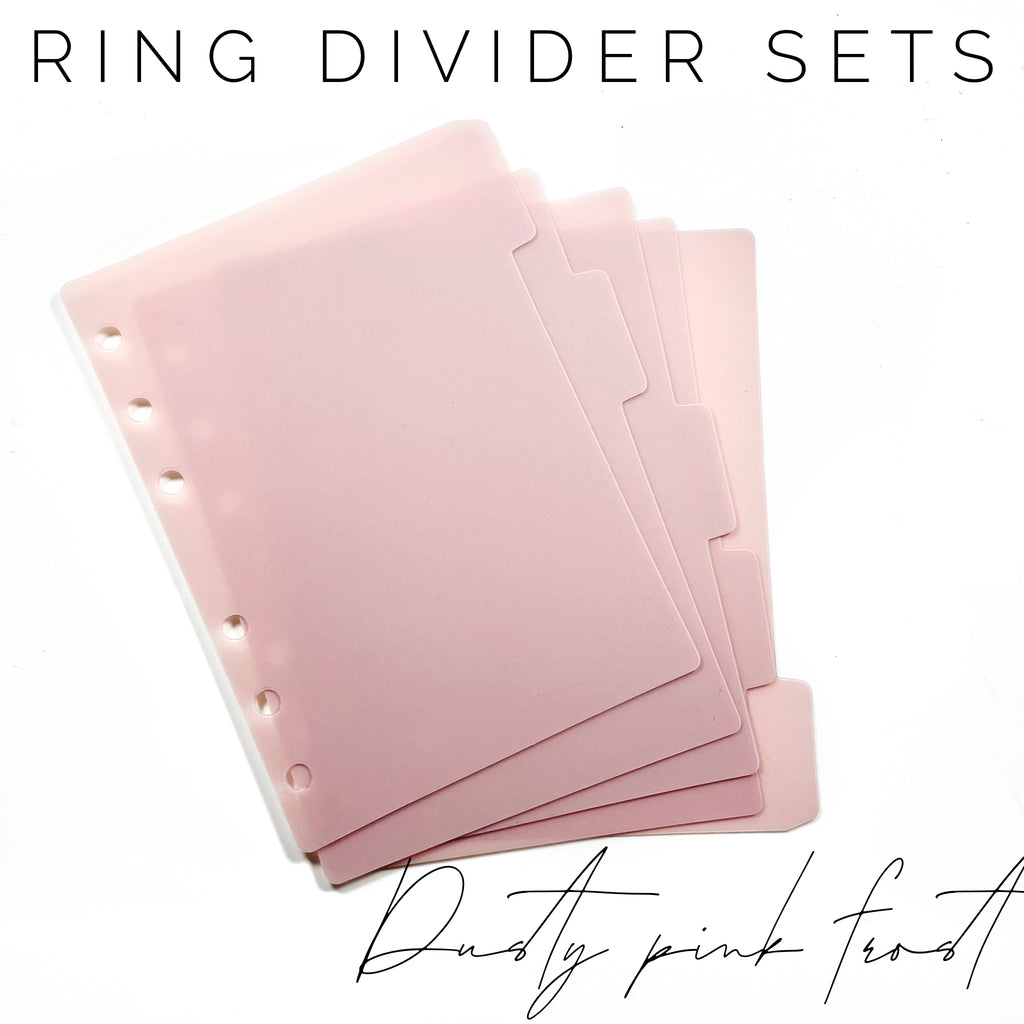 Ring Planner Divider Sets- Dusty Pink Frost