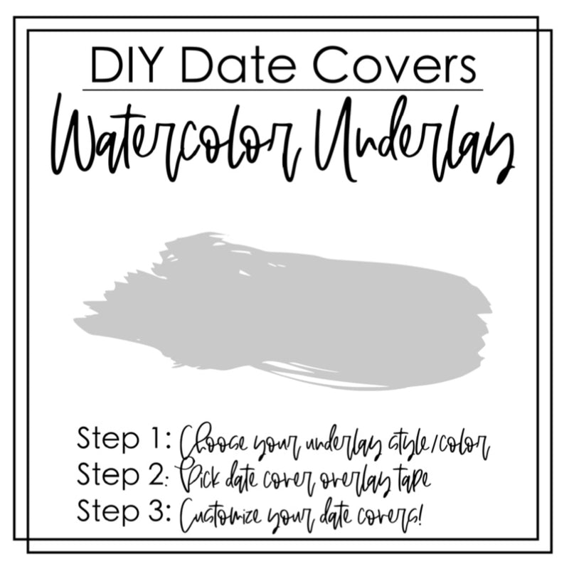 DIY Date Covers- Perforated Day Overlay Tape- FLIRTY FONT