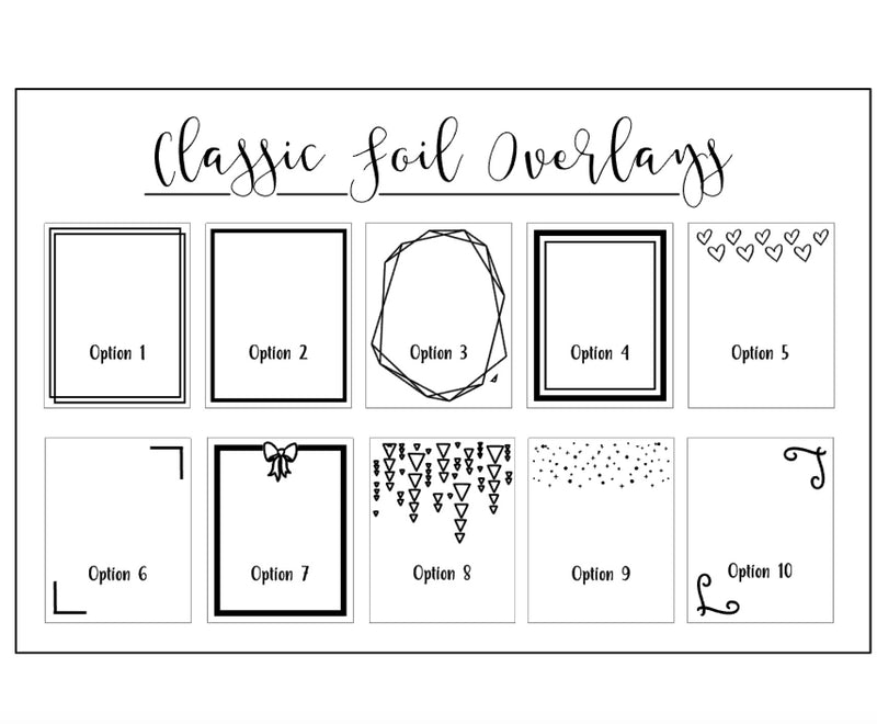 NEW- Classic Transparent Full Box Overlays