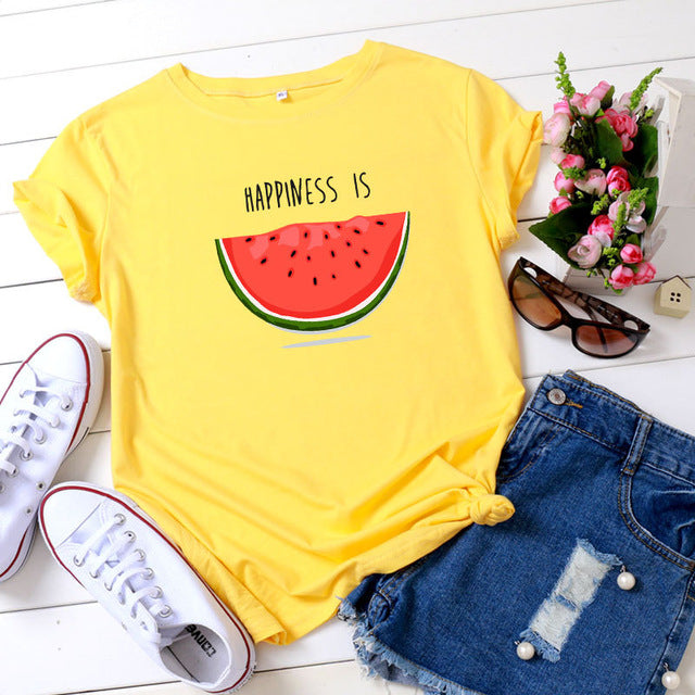 Happiness is Watermelon T-shirt