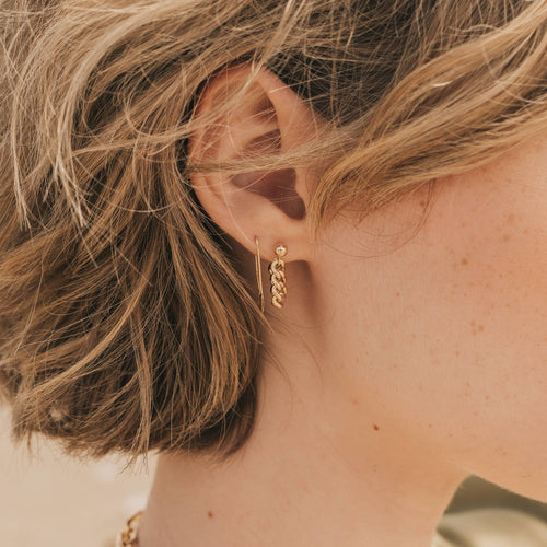 Kat Chain Hoop Earrings - JoeyRae