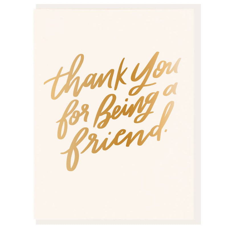 Thank You for Being A Friend Foil Card - JoeyRae