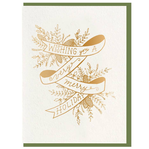 Ribbon Merry Foil Card - JoeyRae