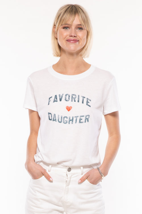 Favorite Daughter Loose Tee White - JoeyRae