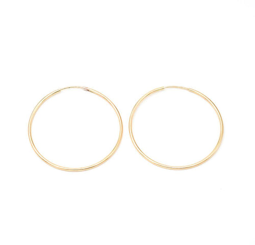 40MM Gold Filled Hoops - JoeyRae