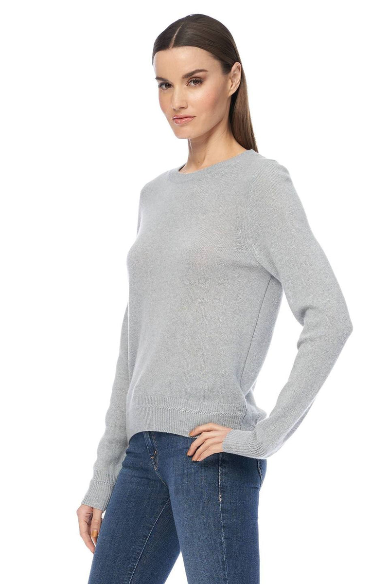 Leila Relaxed Silhouette Crew Misty Blue