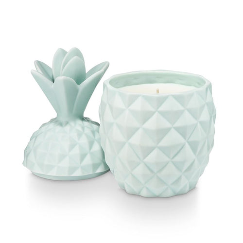 Ceramic Pineapple Candle Sugared Blossom - JoeyRae