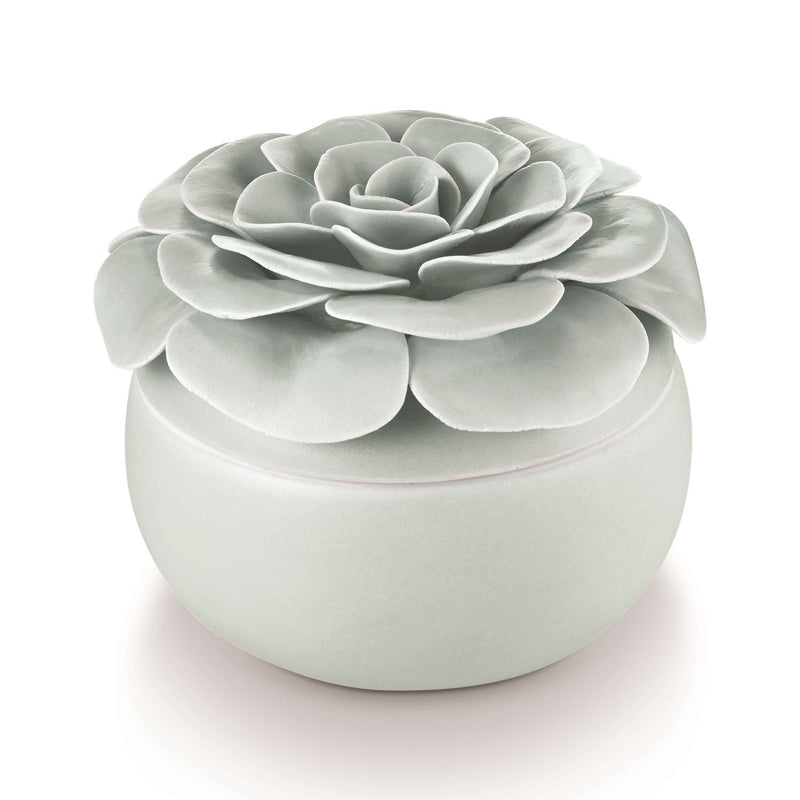 Ceramic Flower Candle Fresh Sea Salt - JoeyRae