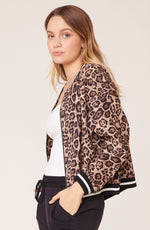 Cat Fight Leopard Bomber - JoeyRae