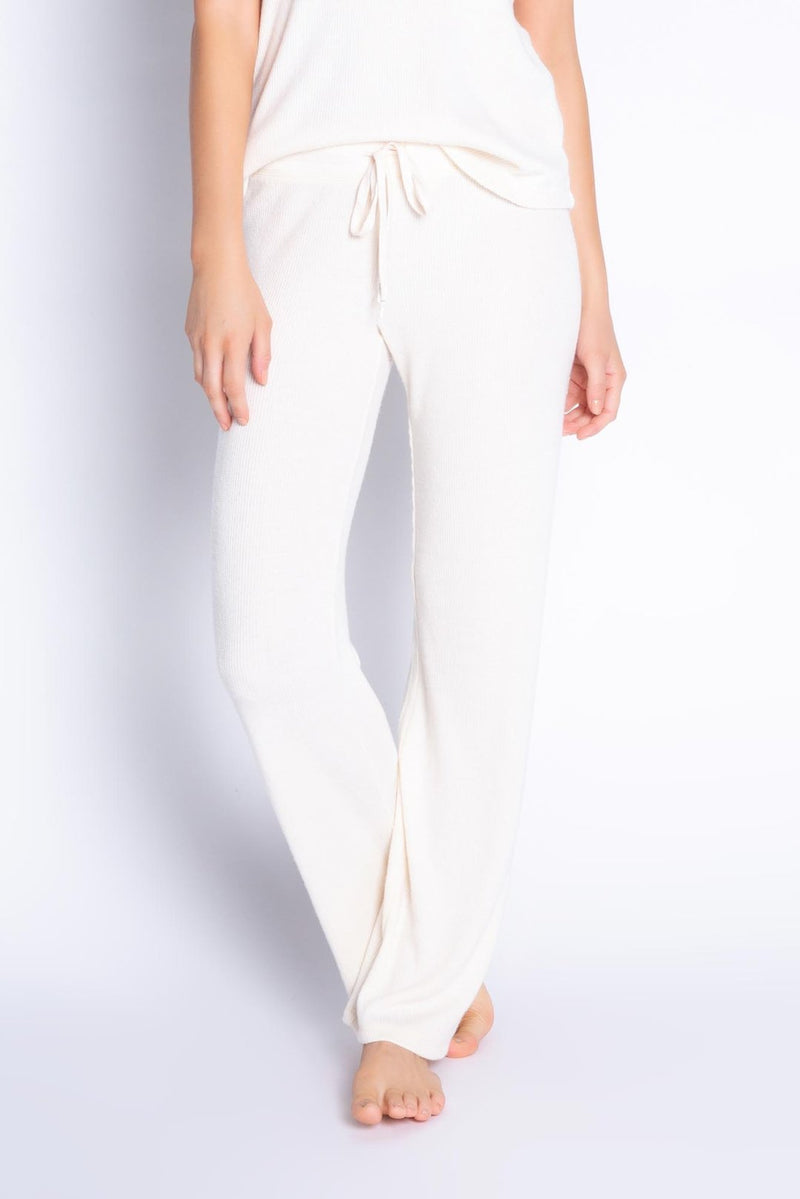 Textured Basic Pants Stone - JoeyRae