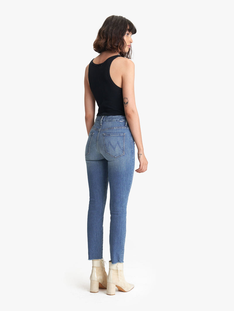 The High Waisted Looker Ankle Fray Wander Dust - JoeyRae