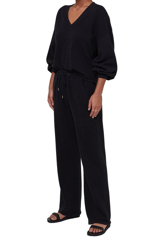 Nia Wide Leg Lounge Pant Black - JoeyRae