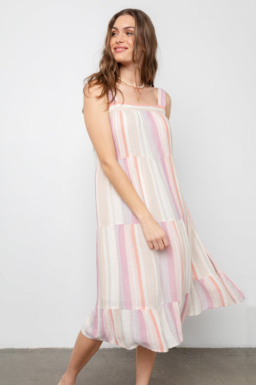 Amaya Dress Juliette Stripe - JoeyRae