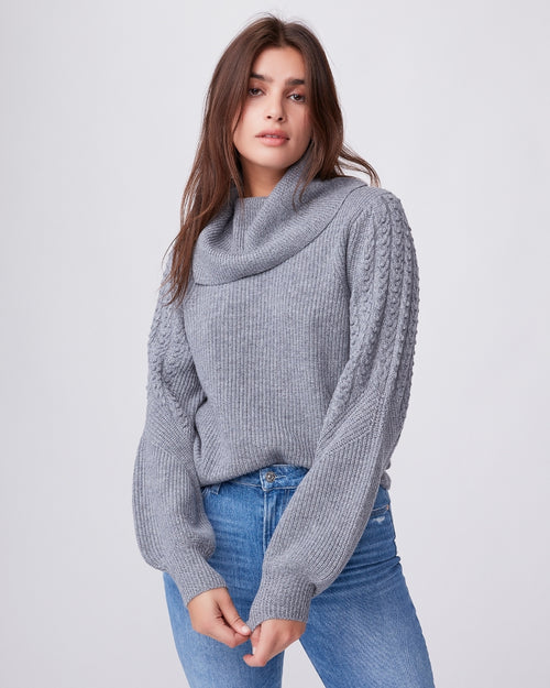 Bernadette Sweater Heather Grey - JoeyRae