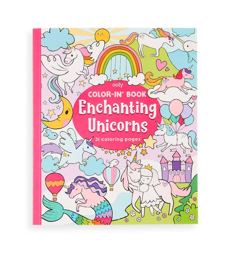 Color-in' Book: Enchanting Unicorns - JoeyRae